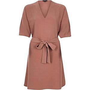 Light pink kimono swing dress