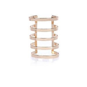 Gold tone elongated cuff bracelet