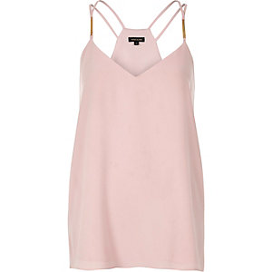 Light pink double strap cami