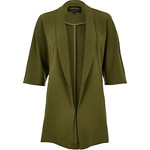 Khaki belted kimono jacket