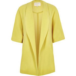Yellow belted kimono jacket