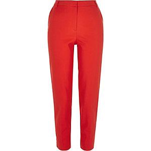 Orange slim fit trousers