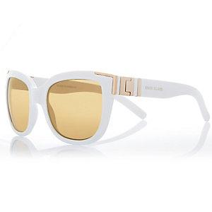 White wayfarer-style sunglasses