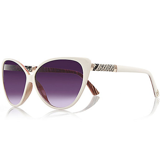 Cream cat eye sunglasses
