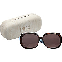 RI Studio brown print glam sunglasses