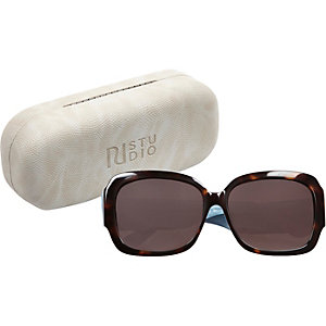 RI Studio brown print glam sunglasses