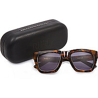 RI Studio brown print retro sunglasses