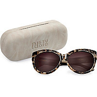 RI Studio brown print cat eye sunglasses