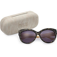 RI Studio black chunky cat eye sunglasses