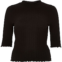 Black turtle neck top
