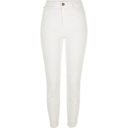 Jean skinny Lori blanc taille haute