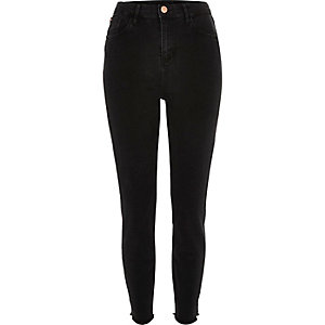 Washed black high waisted Lori jeans