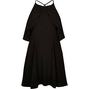 Black frilly mini dress