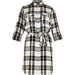 RI Plus check shirt dress