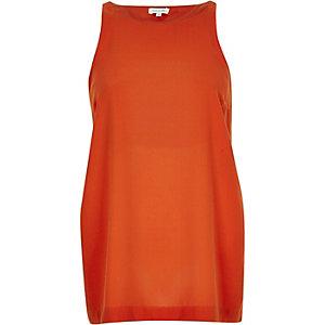 Dark orange split side vest