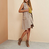 Beige RI Studio sleeveless jacket