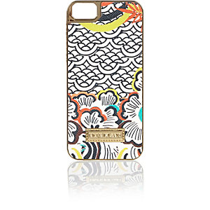 Orange retro print iPhone 5 phone case