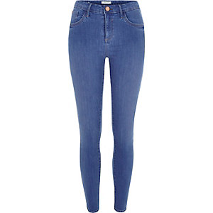 Bright blue Amelie superskinny jeans