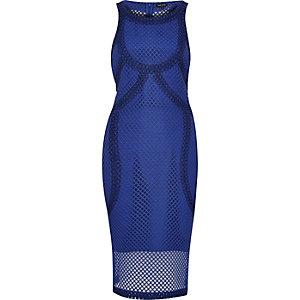 Blue premium mesh dress
