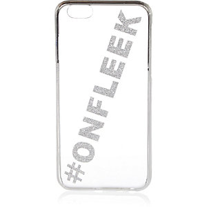 Silver glittery iPhone 6 phone case