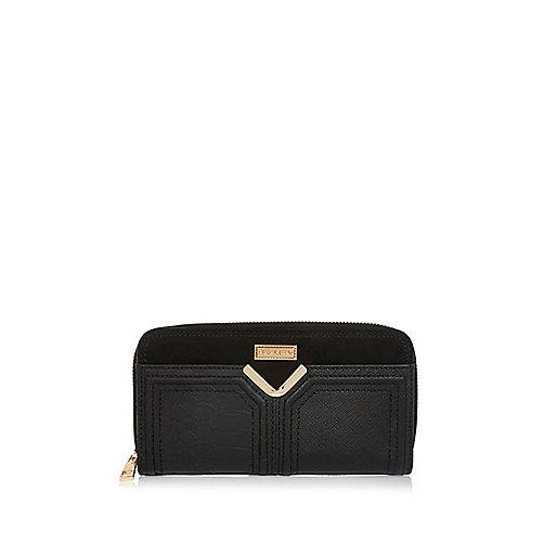 Black V bar purse