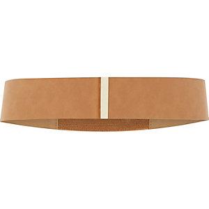 Brown faux suede belt
