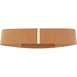 Brown faux suede belt