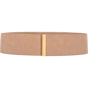 Light pink faux suede belt