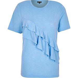 Blue frill t-shirt