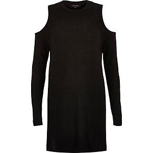 Black cold shoulder tunic
