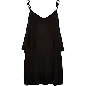 Black smart cami romper