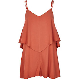 Orange smart cami romper