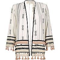 Kimono de festival imprimé blanc