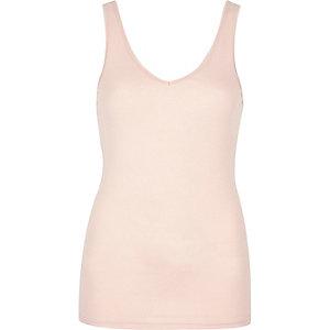 Pink V-neck tank