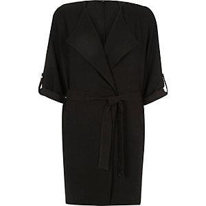 Black tie front jacket