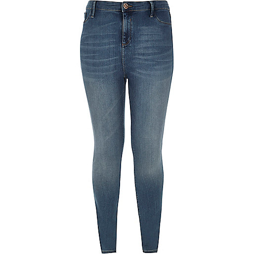 Leggings Molly RI Plus délavage bleu moyen