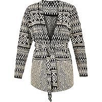 RI Plus geometric belted jacket