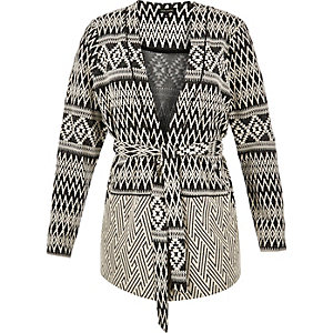 RI Plus geometric belted jacket
