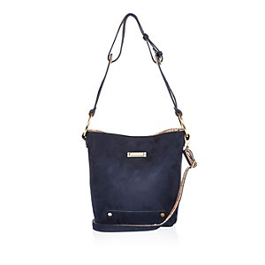 Navy slouchy bucket handbag