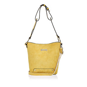 Yellow slouchy bucket handbag