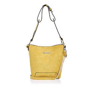 Yellow slouchy bucket handbag