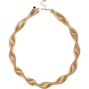 Gold tone twisted necklace