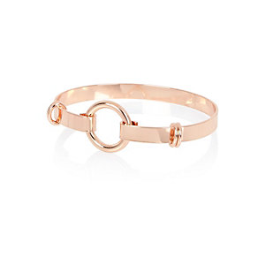 Rose gold tone circle bangle