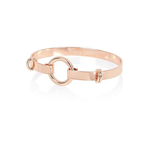 Jonc couleur or rose avec anneau