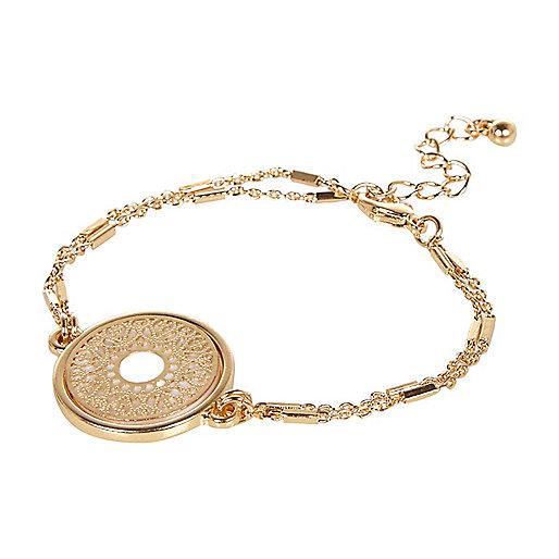 Bracelet doré en filigrane