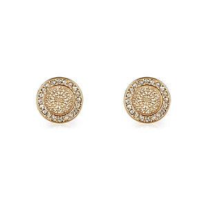Gold tone filigree stud earrings