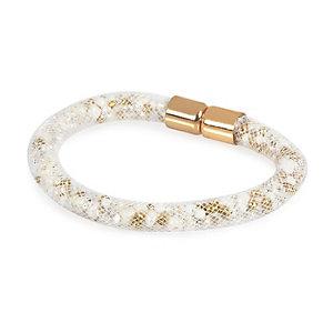 White mesh tube bracelet