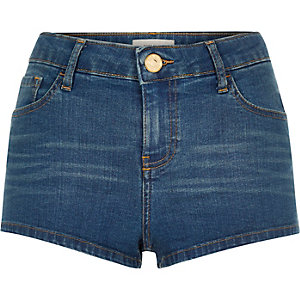 Blue denim hotpants shorts