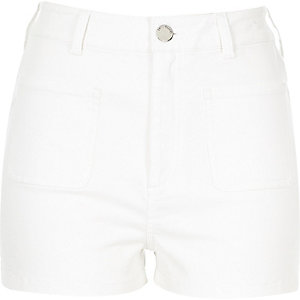 White high waisted shorts