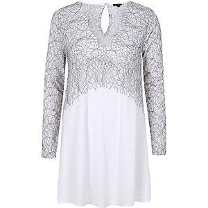 White lace tunic